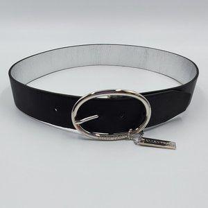 Ellen Tracy Reversible Black/Silver Belt